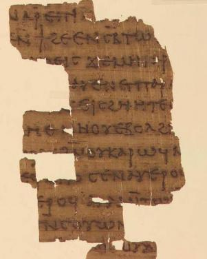 Yale Papyrus Fragment from the Nag Hammadi Gnostic Library Codex III, containing The Dialogue of the Savior (Yale Beinecke Library)